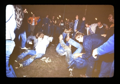 Unidentified students during a party