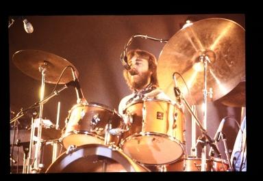Unidentified drummer singing