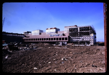 Construction of Frank E. Gannett Hall