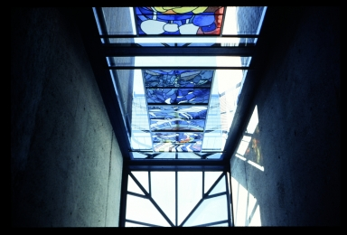 Stained glass in Student Alumni Union