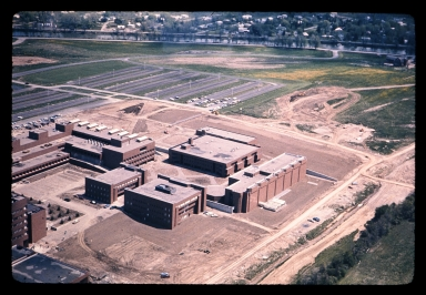 Aerial view of Henrietta campus during construction