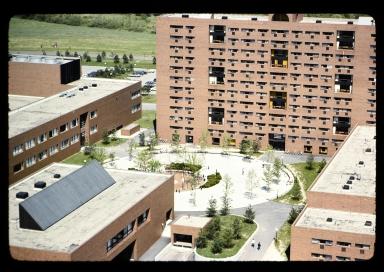 Henrietta campus during construction