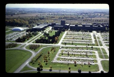 Aerial view of Henrietta campus
