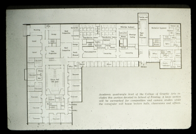 Floor plan for College of Graphic Arts