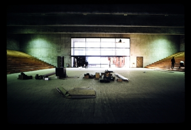 Construction in George H. Clark Gymnasium