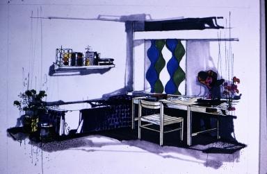 Dormitory room sketch