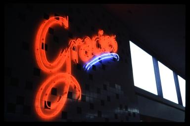 Gracie's neon sign