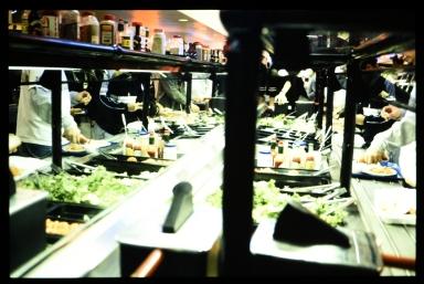 At the salad bar