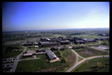 Aerial view of the Henrietta campus