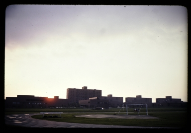 Sunrise over dorms