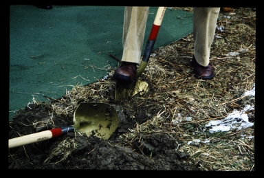 First shovel full