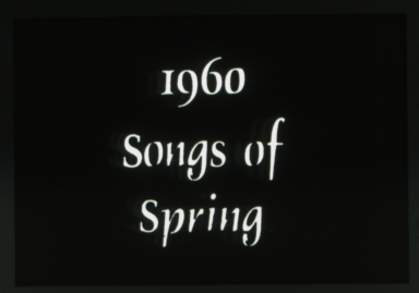 1960 Spring Weekend theme