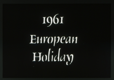 1961 Spring Weekend theme - European Holiday