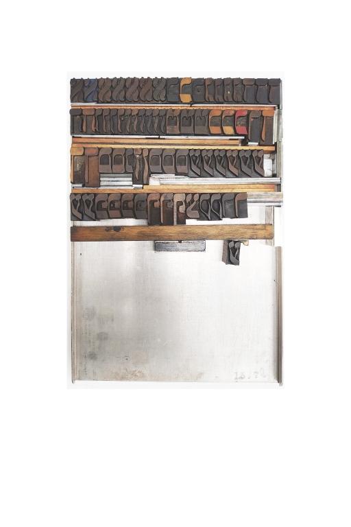 Hebrew Wood Type, 6.5 line