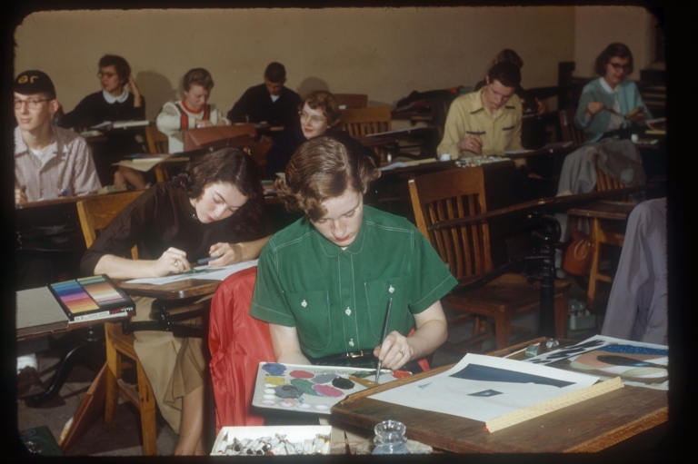 Art students in class, Rochester Institute of Technology