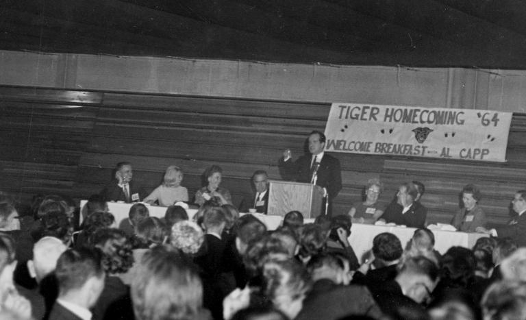 Alumni Homecoming 1964, Al Capp speaking