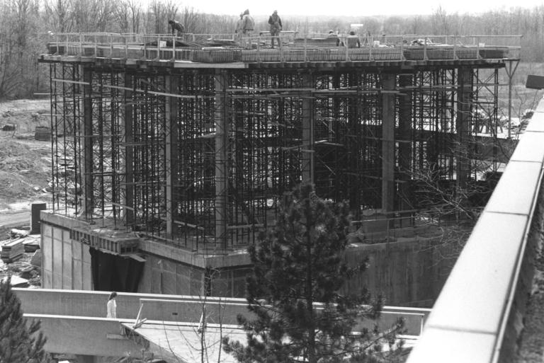Construction of the Kilian J. and Caroline F. Schmitt Interfaith Center