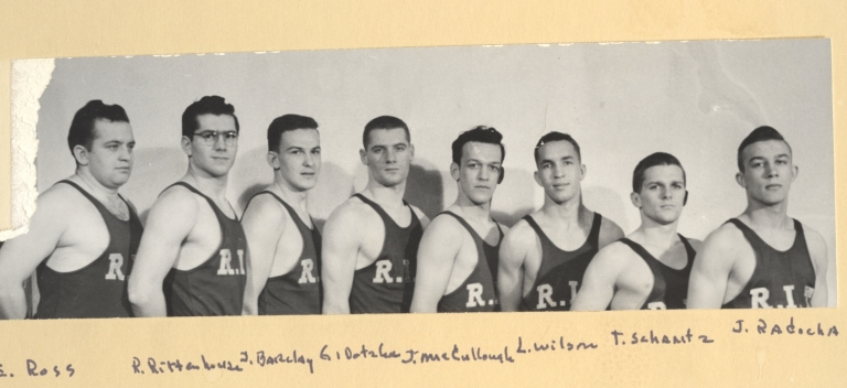 Members of the 1953-1954 RIT Wrestling Team