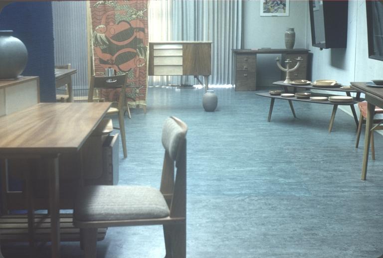Exhibition of furniture and ceramics