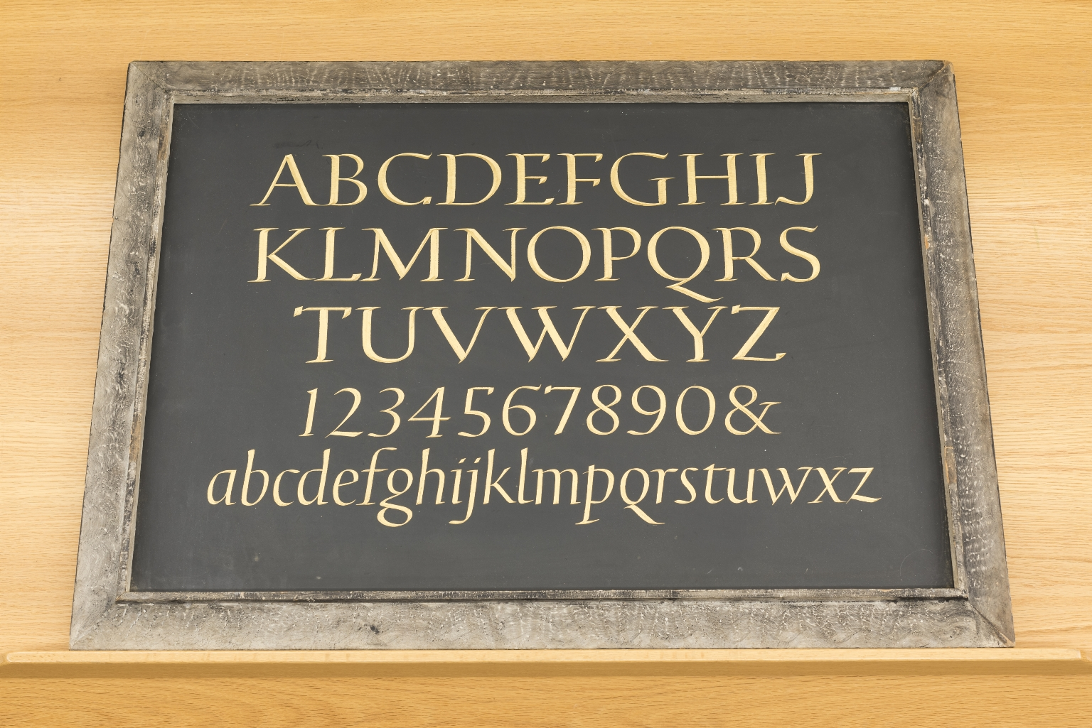 Petrarch alphabet stone
