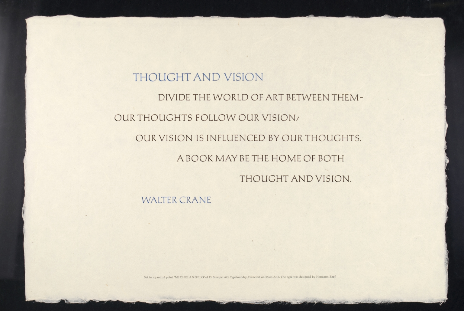 Thought and Vision