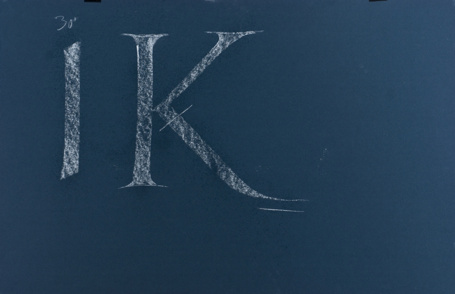 Calligraphic teaching sheet, IK