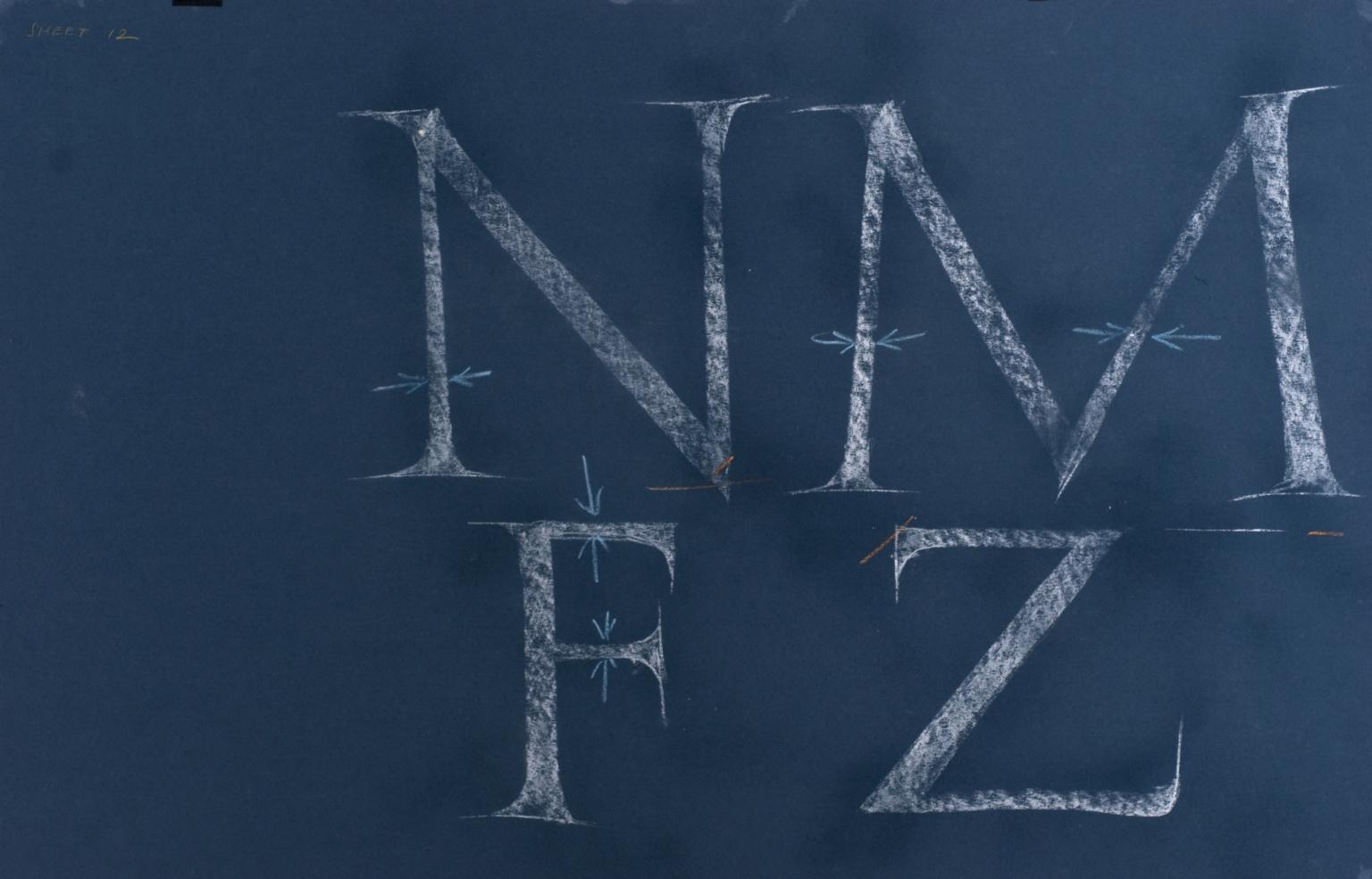 Calligraphic teaching sheet, NMFZ