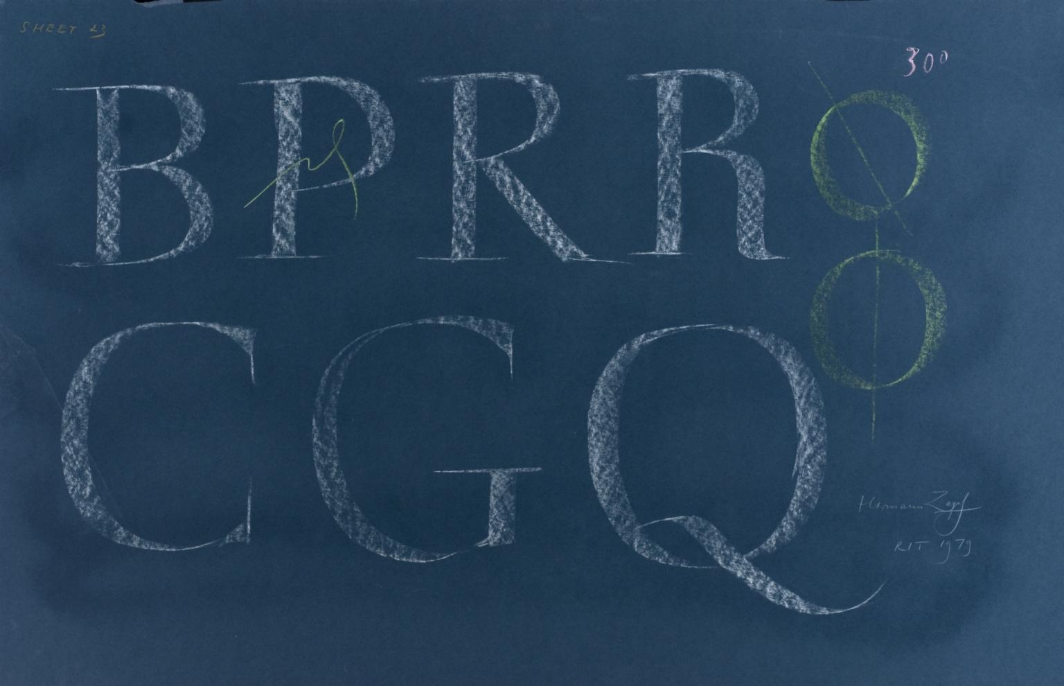 Calligraphic teaching sheet, BPR CGQ