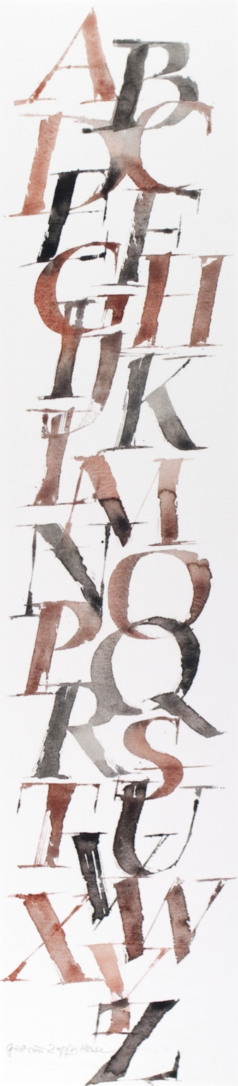 Alphabet in brown and black