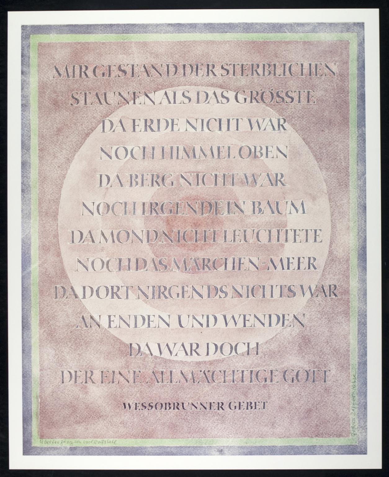 Wessobrunner Gebet