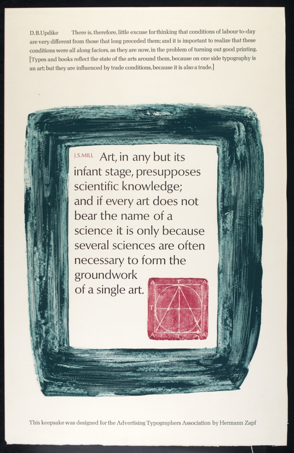 Advertising Typographers Association keepsake
