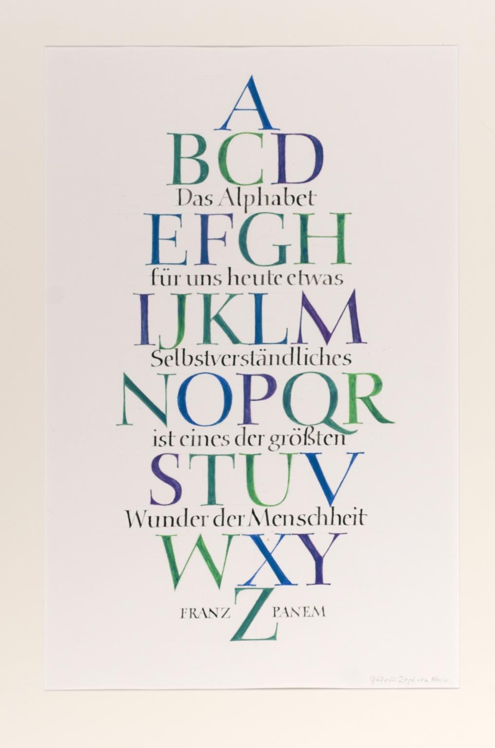Das alphabet für uns heute etwas Selbstverständliches ist eines der grösten Wunder der Menschheit.