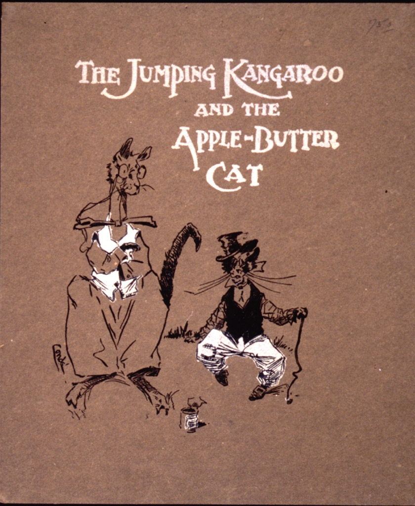 The jumping kangaroo and the apple-butter cat