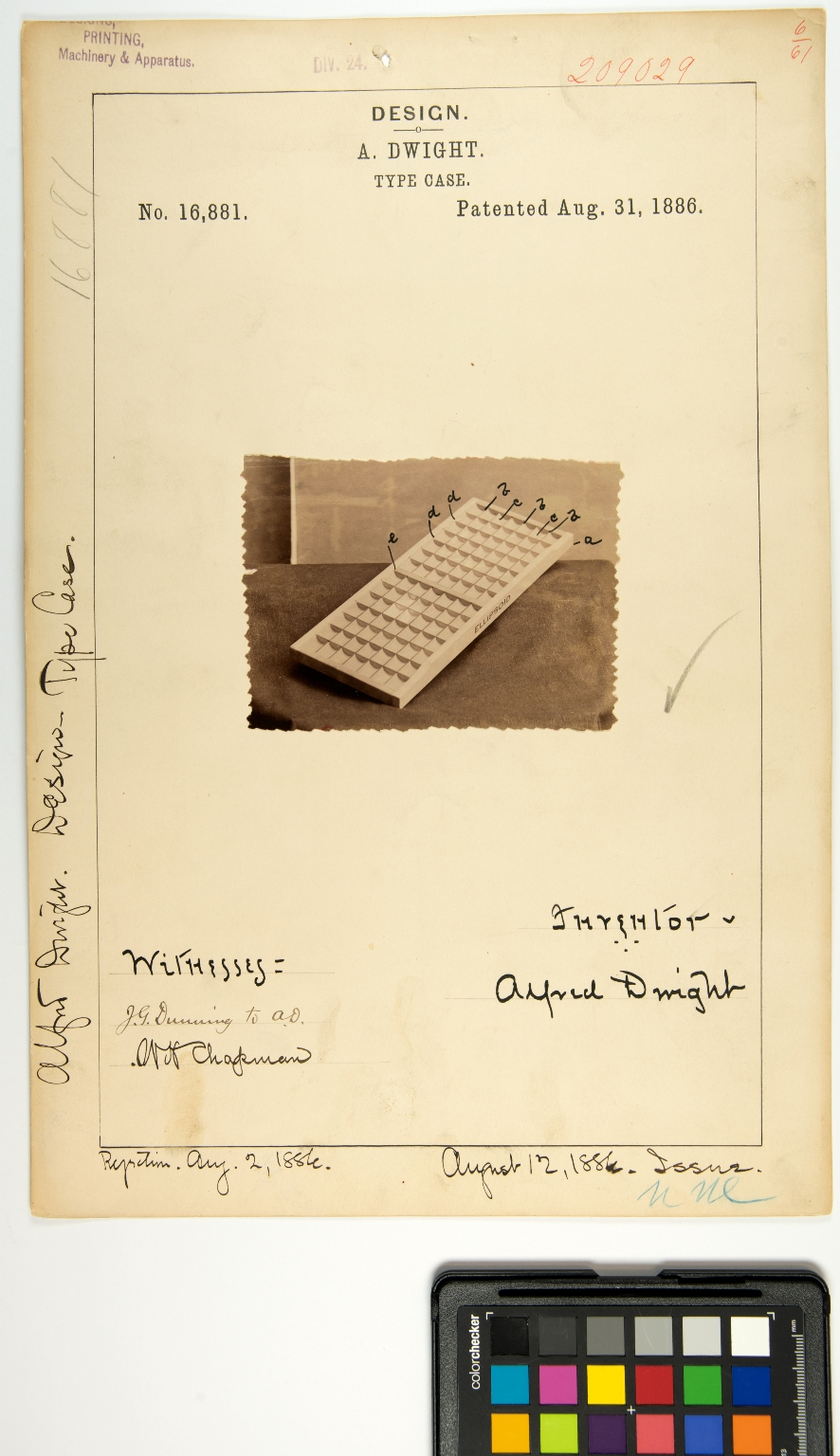 A. Dwight, Type Case