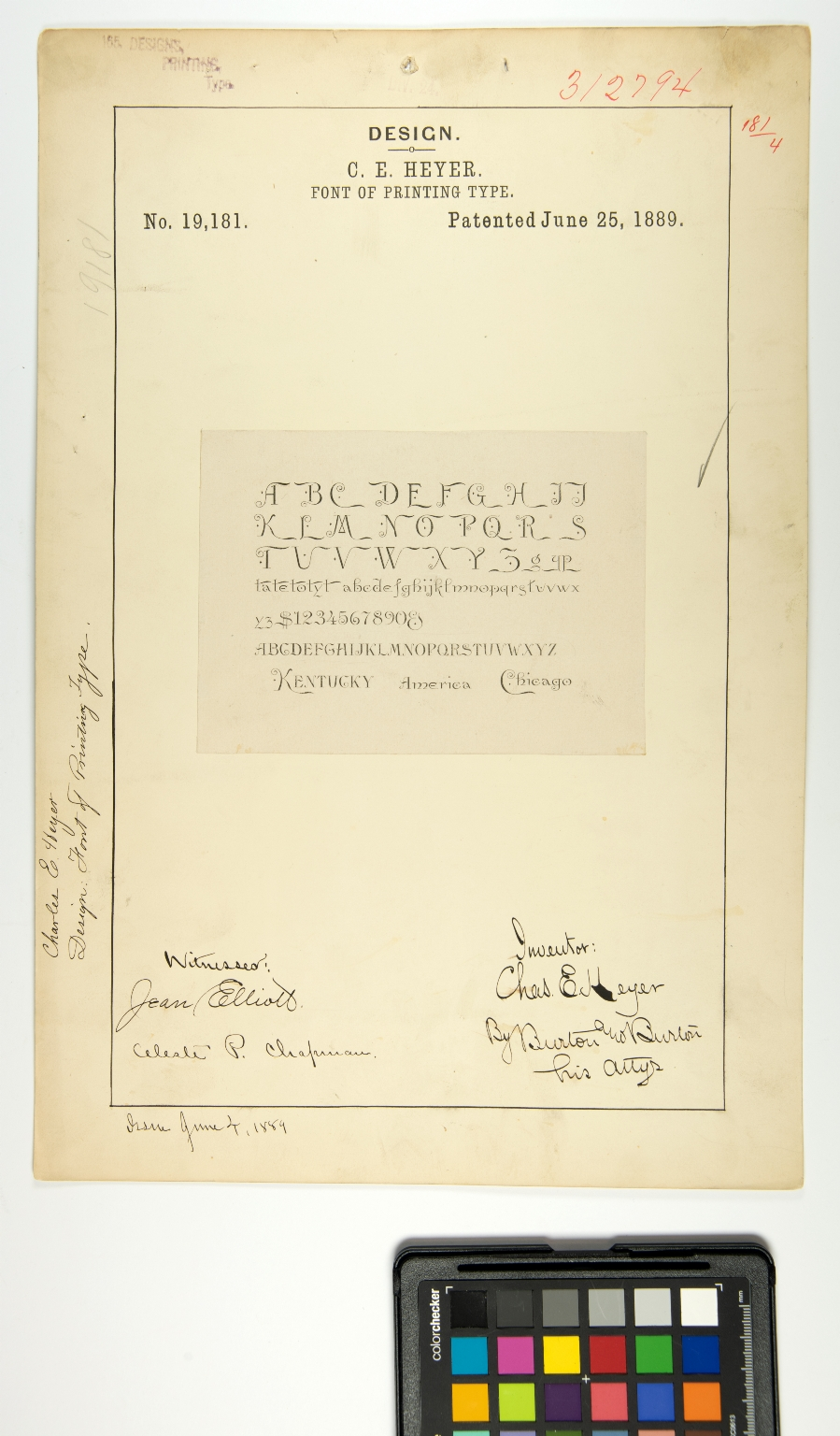 C.E. Heyer, Font of Printing Type