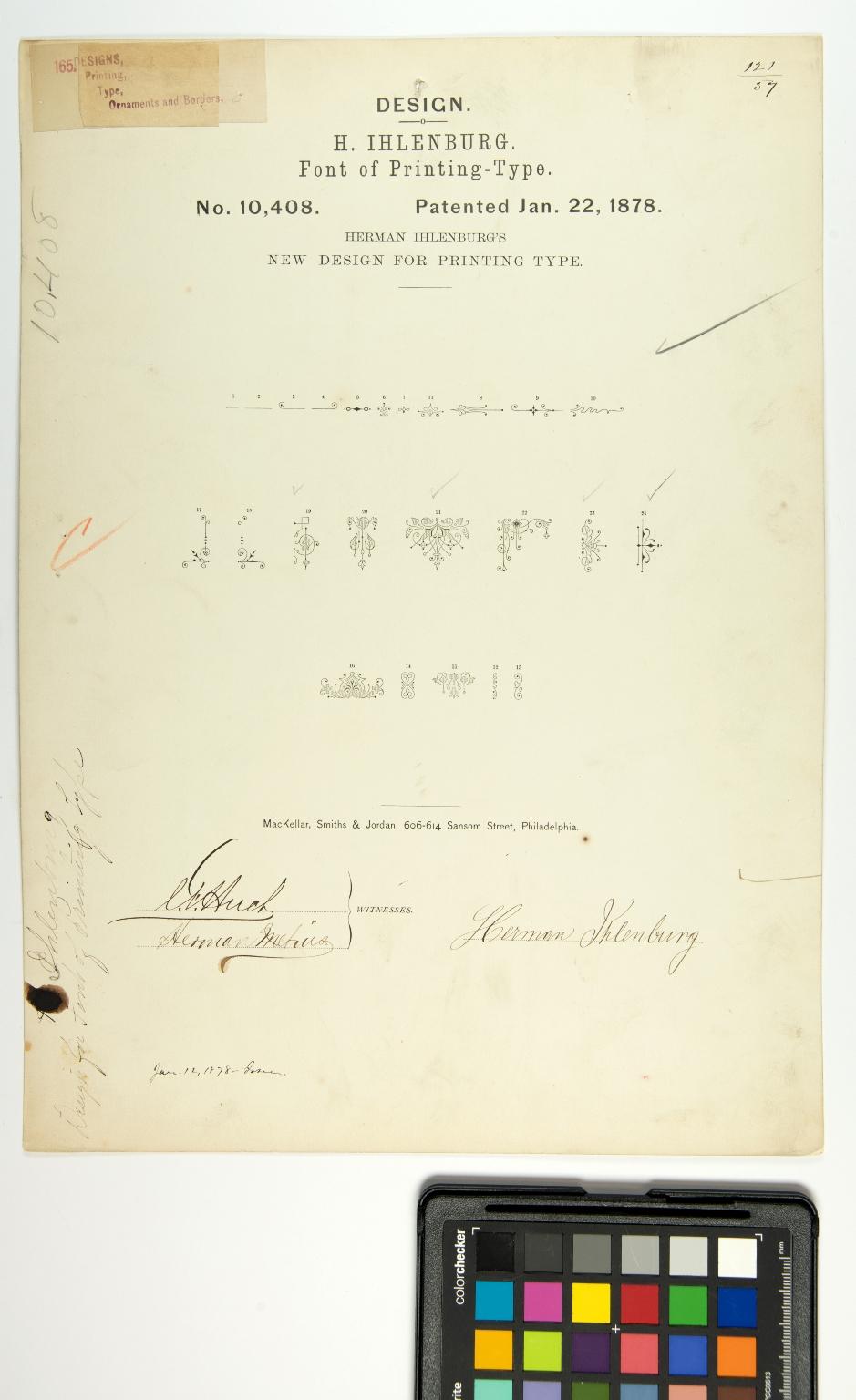 H. Ihlenburg, Font of Printing-Type