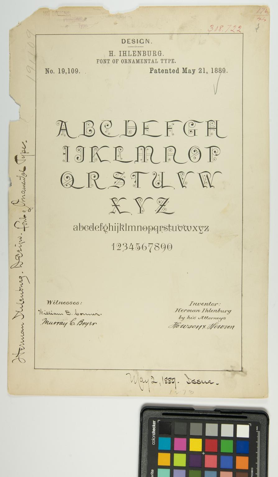 H. Ihlenburg, Font of Ornamental Type