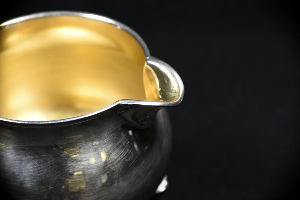 Kate Gleason silver creamer detail