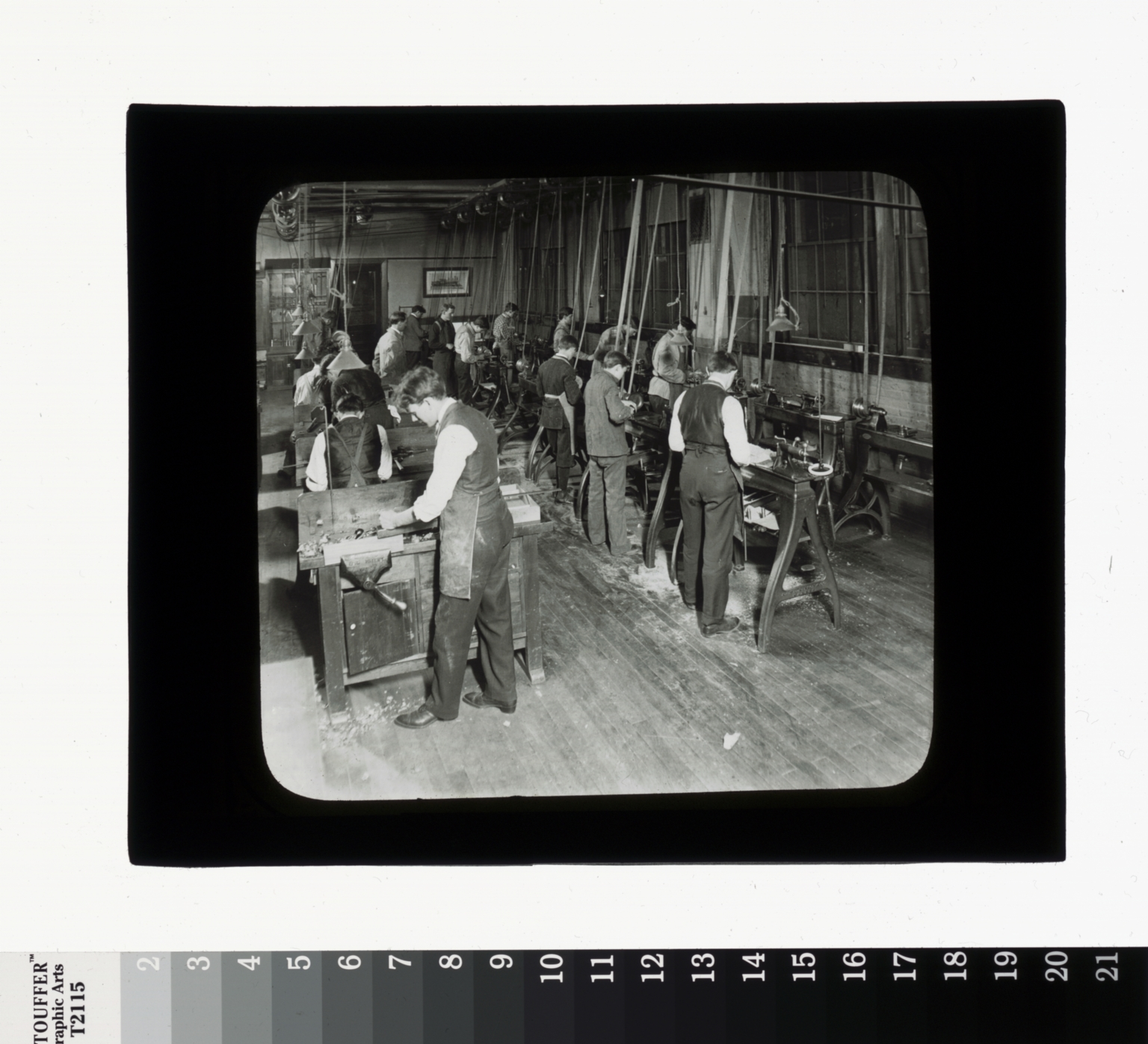Machine shop, Department of Industrial Arts, Rochester Athenaeum and Mechanics Institute