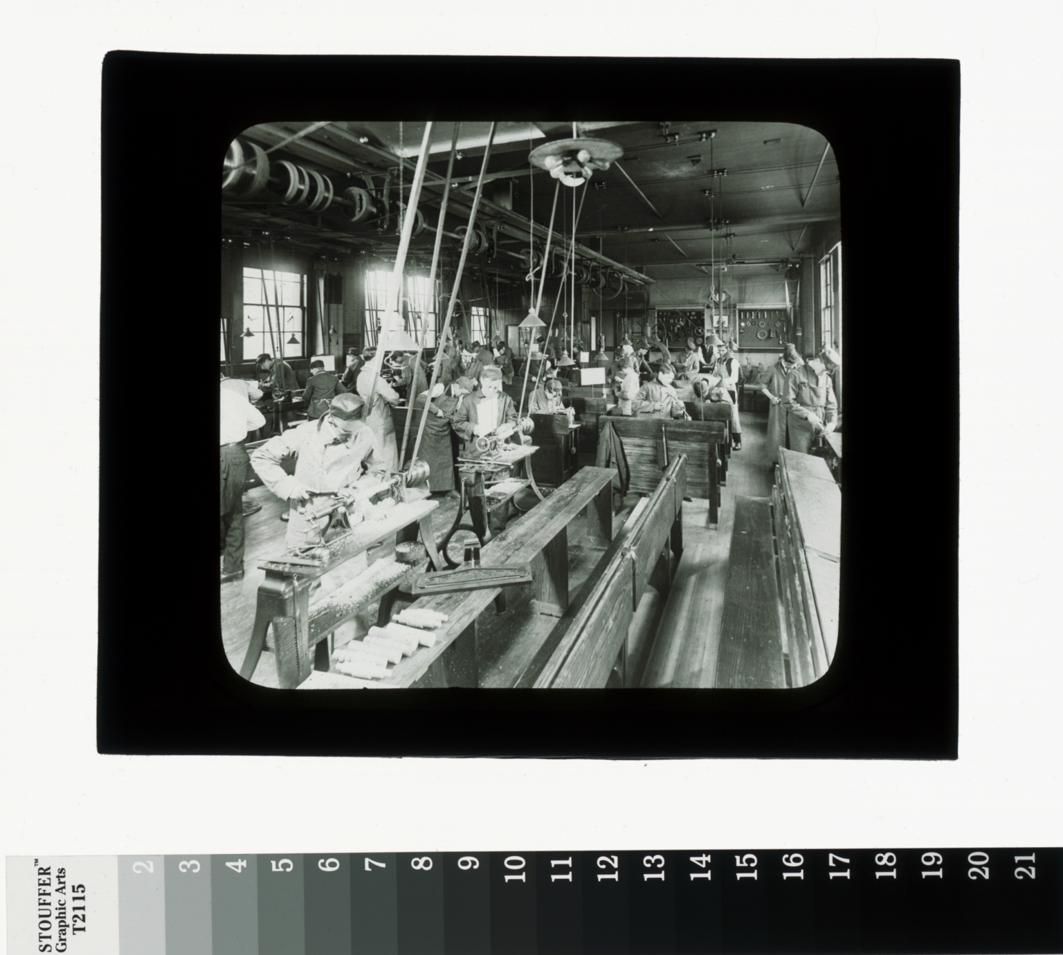 Lathe operation, Department of Manual Training, Rochester Athenaeum and Mechanics Institute