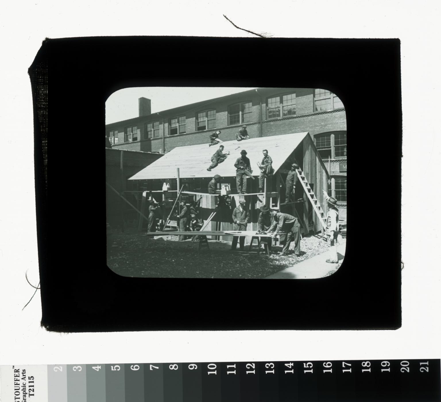 Carpentry class, World War I veterans, Rochester Athenaeum and Mechanics Institute