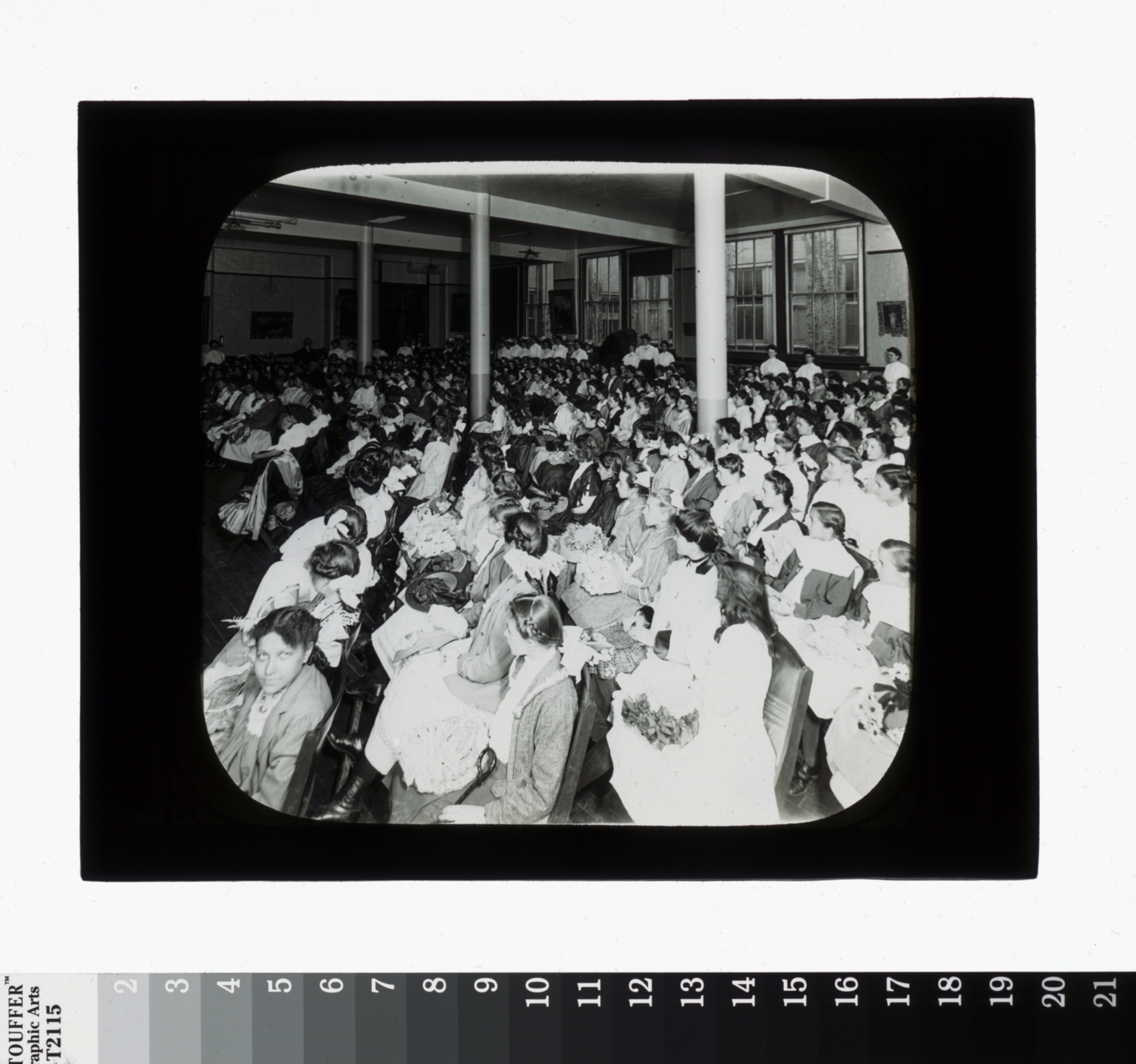 Assembly, unidentified students. Rochester Athenaeum and Mechanics Institute