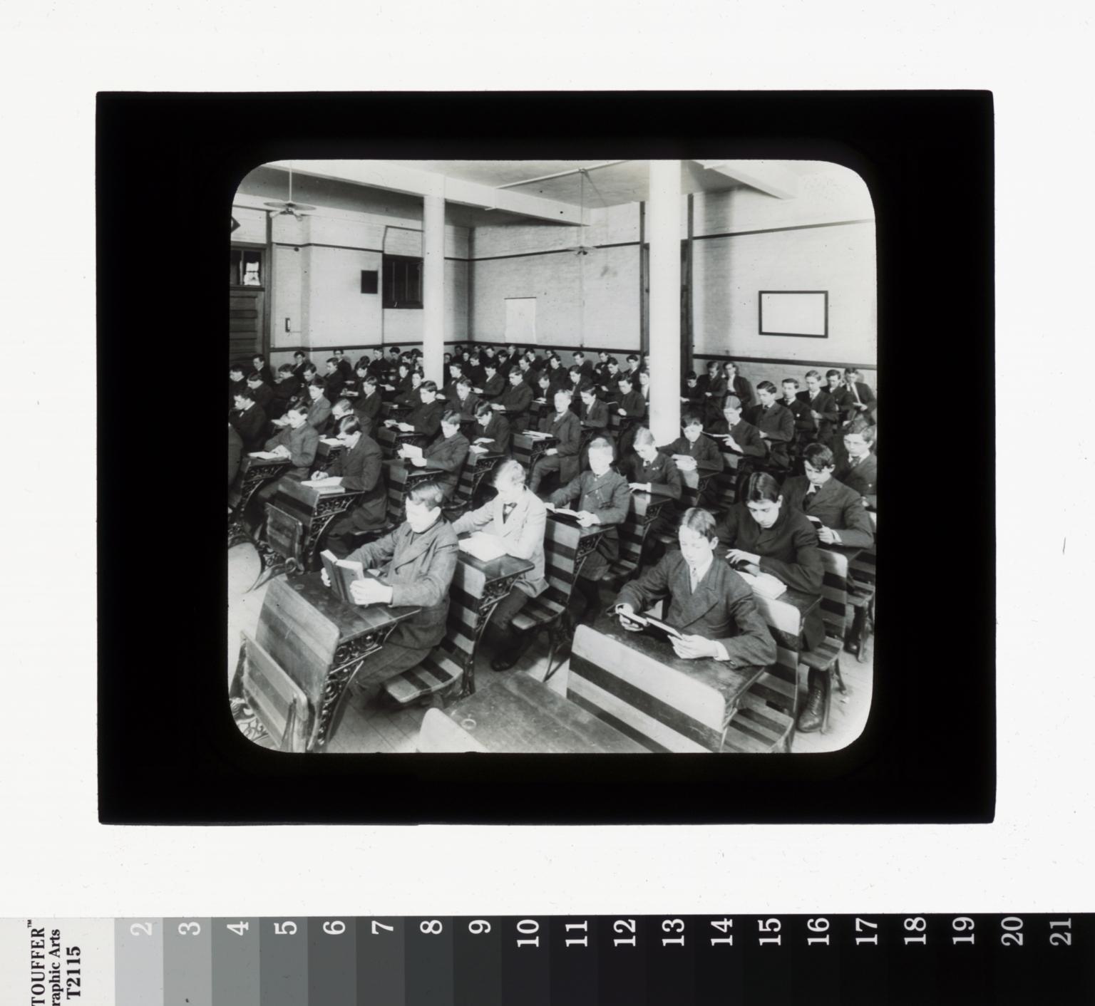Boys' class, Rochester Athenaeum and Mechanics Institute