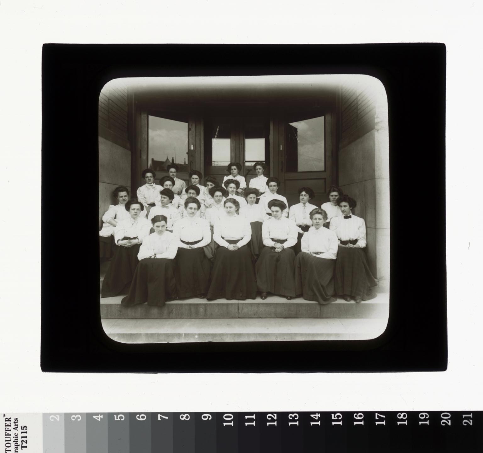 Group portrait, students, Rochester Athenaeum and Mechanics Institute