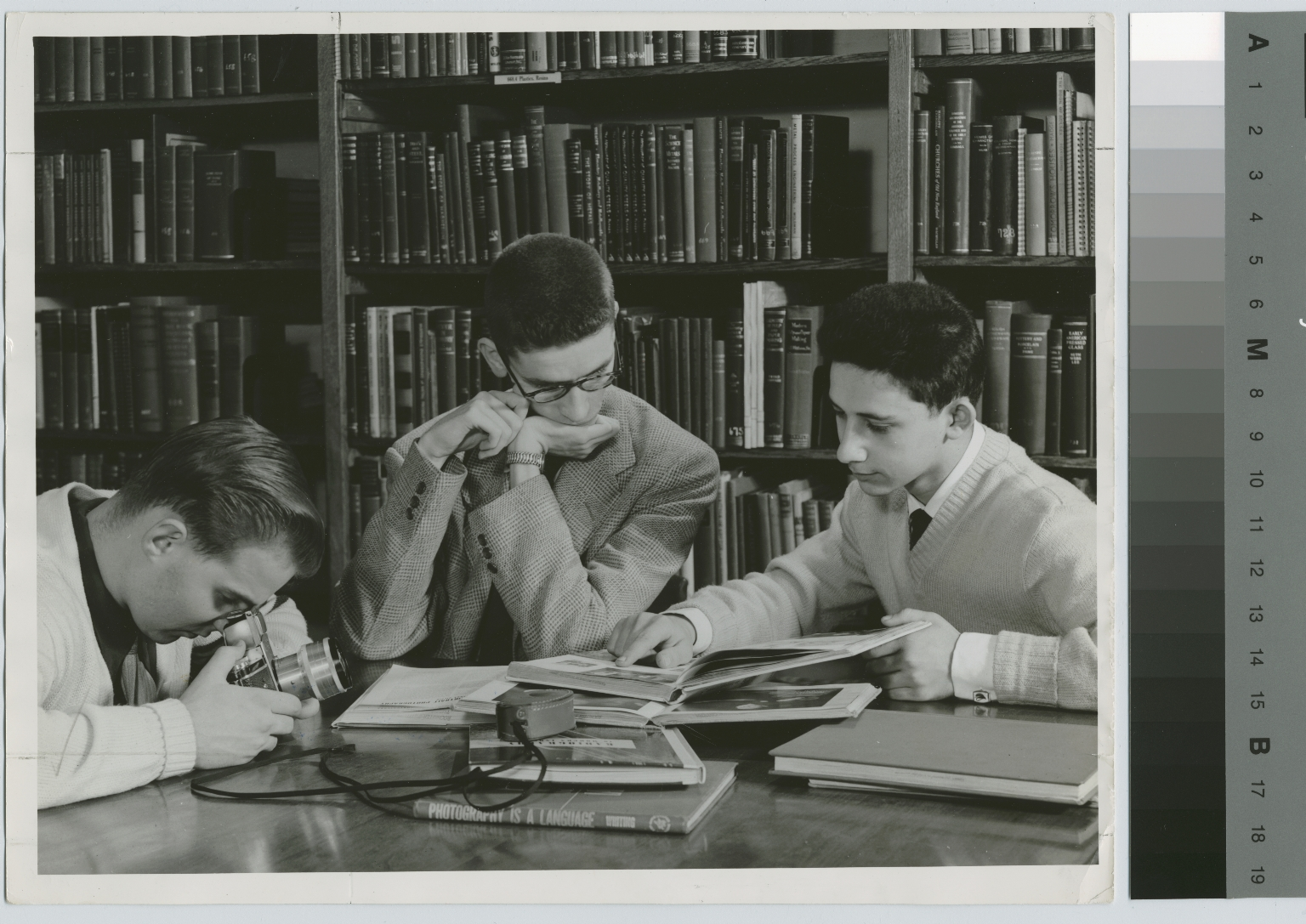 Students studying, Library, Eastman Building, Rochester Institute of Technology