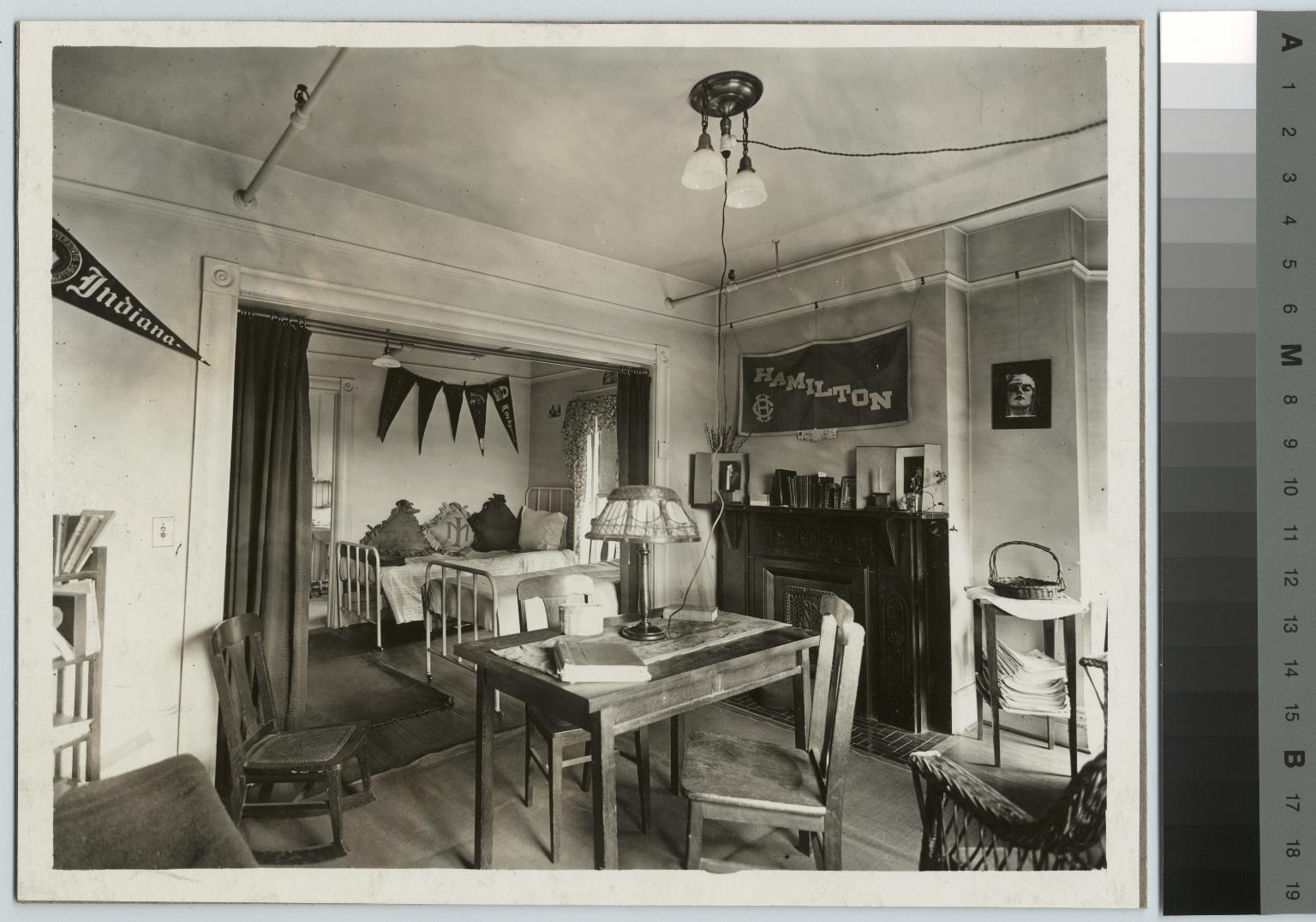 Interior view, girls' dormitory, Rochester Athenaeum and Mechanics Institute