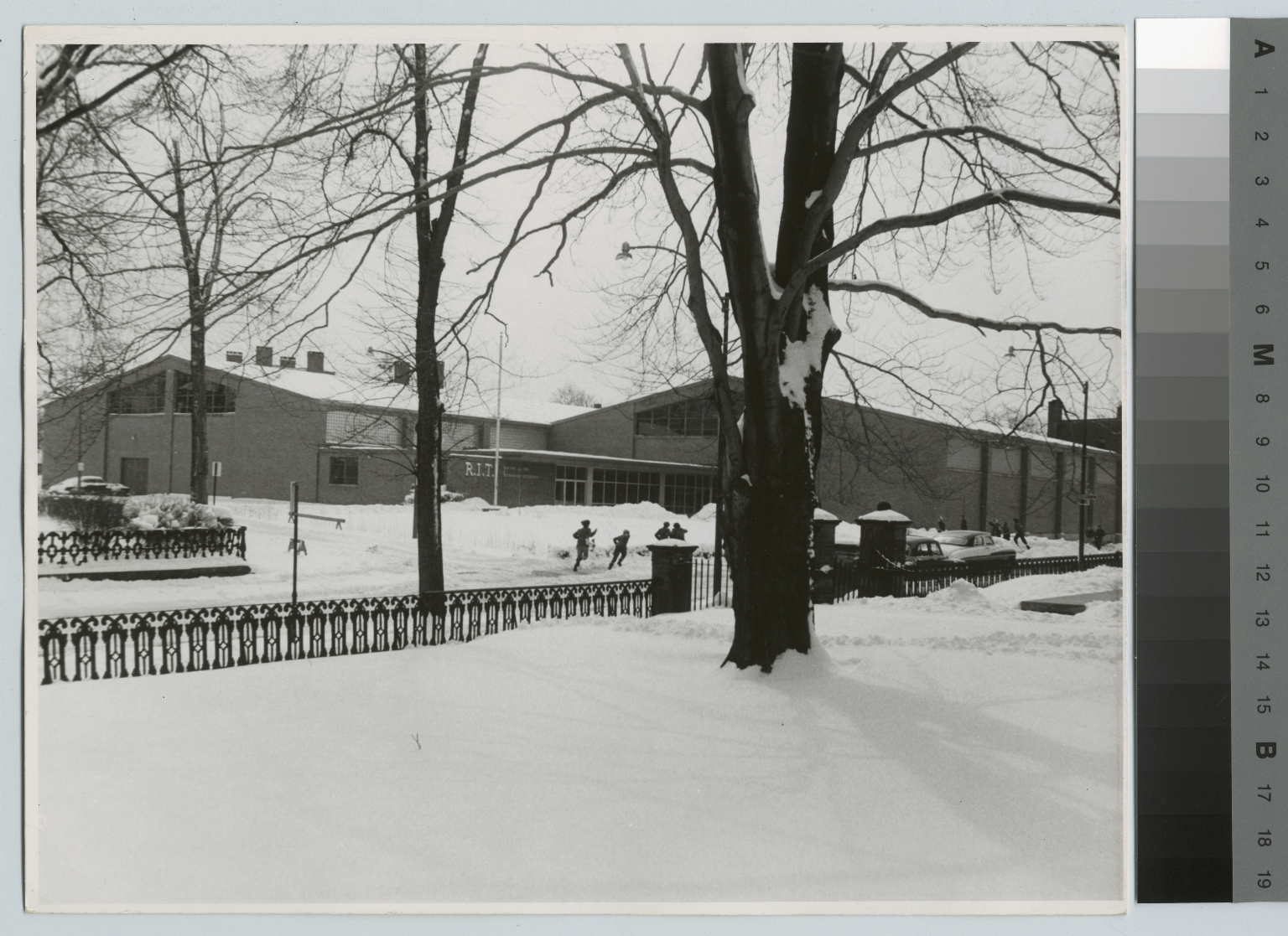 Winter scene, Ritter-Clark Building, Rochester Institute of Technology