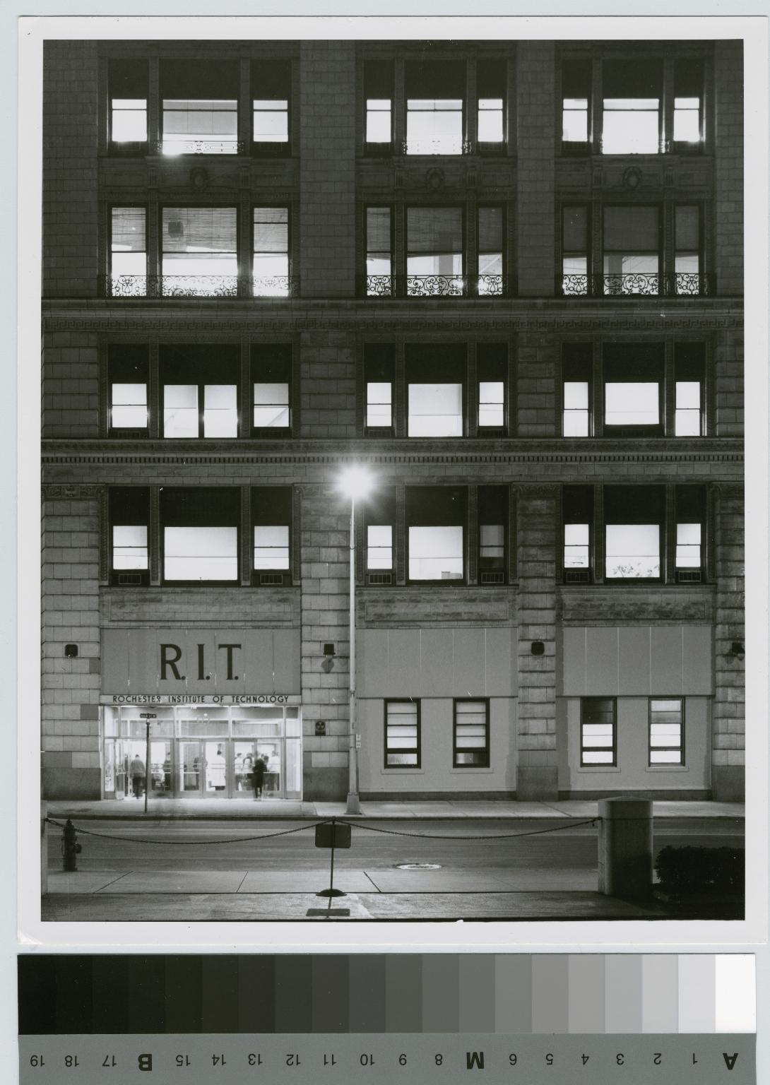 Night Scene, City Center, Rochester Institute of Technology