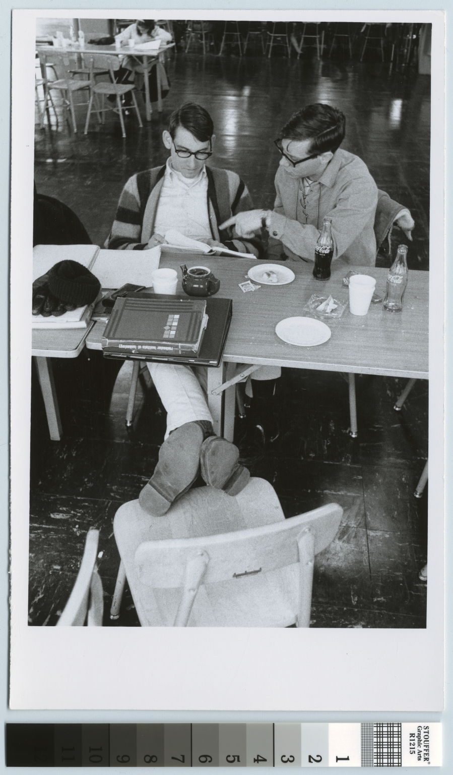 Unidentified students, cafeteria, City Center, Rochester Institute of Technology