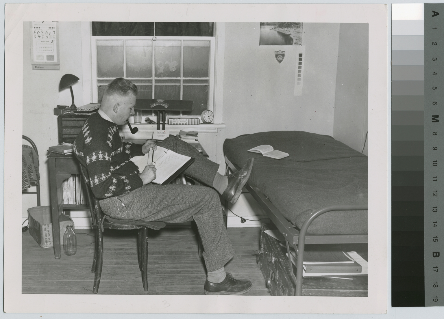 Donald Hults in Barracks Dormitory. Rochester Institute of Technology